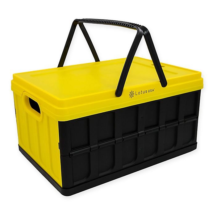 Alternate image 1 for Lotus USA™ Foldable 33 qt. Hardside Basket Storage Crate