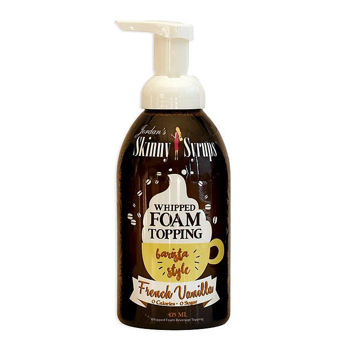 Alternate image 1 for Jordan's Skinny Syrups™ 16 oz. French Vanilla Whipped Foam Topping
