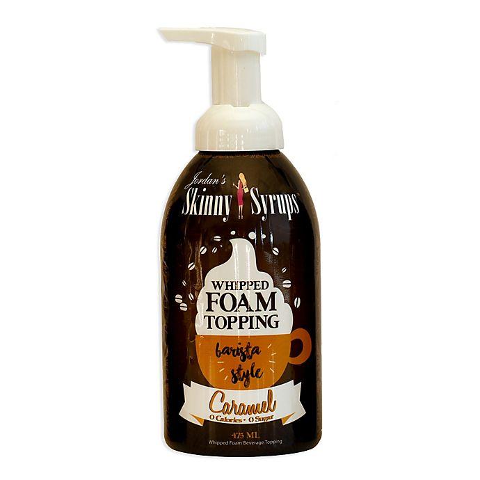 Alternate image 1 for Jordan's Skinny Syrups™ 16 oz. Caramel Whipped Foam Topping