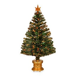 National Tree 48-Inch Fiber-Optic Artificial Evergreen Fireworks Tree