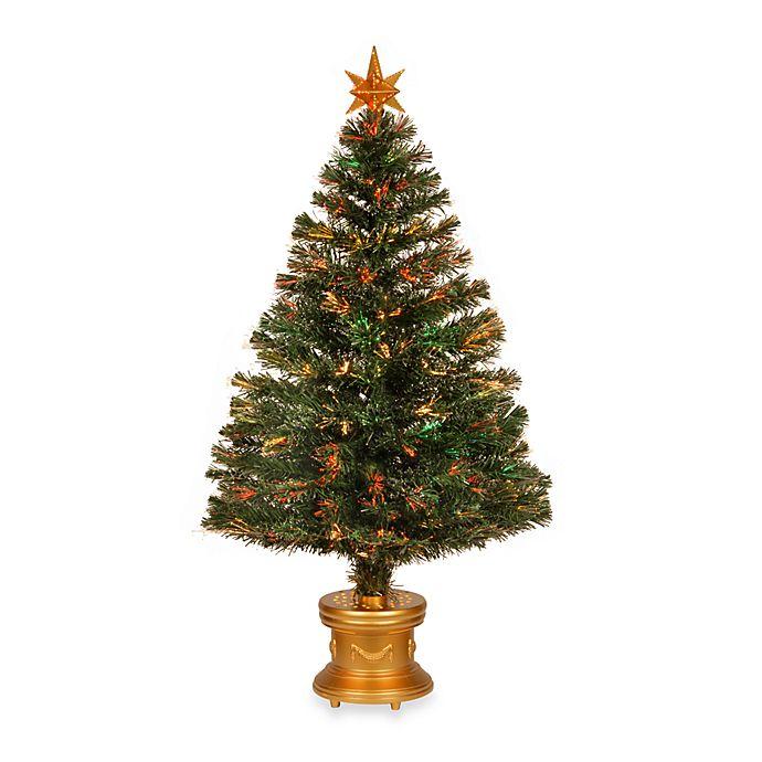 7 5 Fiber Optic Christmas Tree: National Tree 48-Inch Fiber-Optic Artificial Evergreen