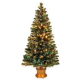 National Tree 5-Foot Fiber Optic Evergreen Fireworks Pre-Lit Christmas Tree