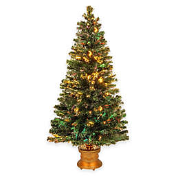 National Tree 5-Foot Fiber Optic Evergreen Fireworks Pre-Lit Christmas Tree