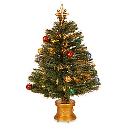32-Inch Fiber Optic Fireworks Fiber Inner Ornament Tree