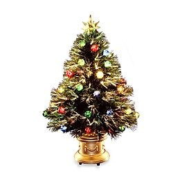 3-Foot Fiber Optic Fireworks Fiber Inner Ornament Tree