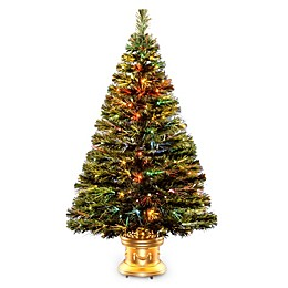 National Tree 4-Foot Fiber Optic Radiance Fireworks Christmas Tree