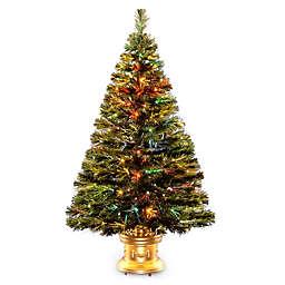 National Tree 4-Foot Fiber Optic Radiance Fireworks Christmas Tree
