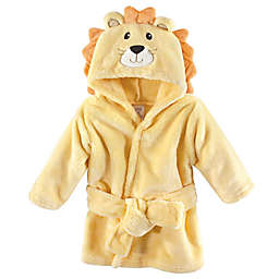 Lion Size 0-9M Hooded Bathrobe in Yellow