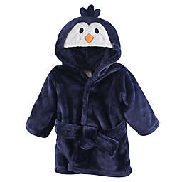 Penguin Size 0-9M Hooded Bathrobe in Blue