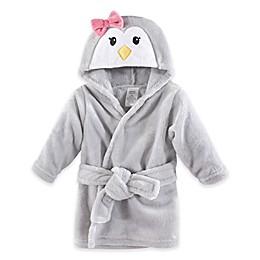 Penguin Plush Hooded Bathrobe in Grey