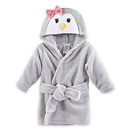 Penguin Plush Hooded Bathrobe in Grey