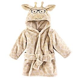 Nerdy Giraffe Size 0-9M Hooded Bathrobe in Brown