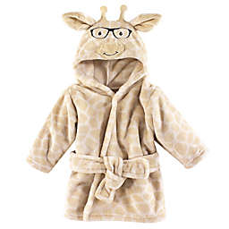 Nerdy Giraffe Size 0-9M Hooded Bathrobe in Brown