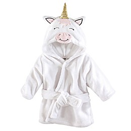 Unicorn Size 0-9M Hooded Bathrobe in White