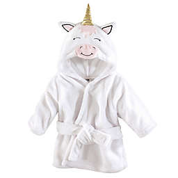 Unicorn Size 0-9M Hooded Bathrobe in White