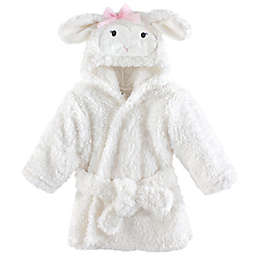 Lamb Size 0-9M Hooded Bathrobe in White