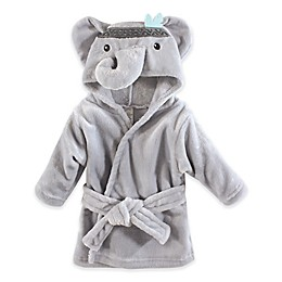 Elephant Plush Hooded Bathrobe in Grey