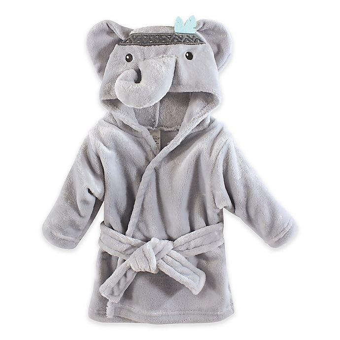 Alternate image 1 for Elephant Plush Hooded Bathrobe in Grey