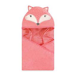 Miss Fox Hooded Bath Towel in Pink
