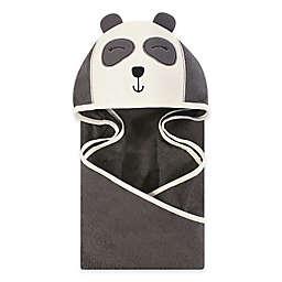 Hudson Baby® Panda Hooded Towel in Grey