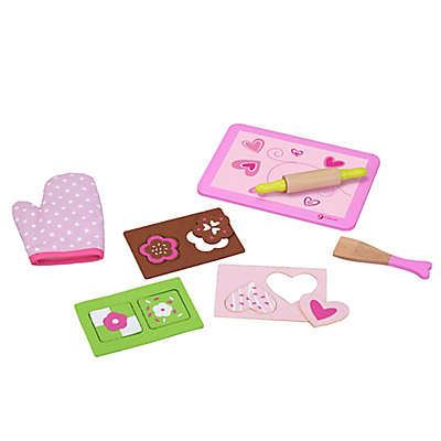 Classic World Wooden Biscuit Baking Set in Pink