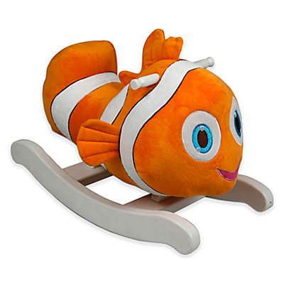 PonyLand Plush Rocking Clown Fish in Orange
