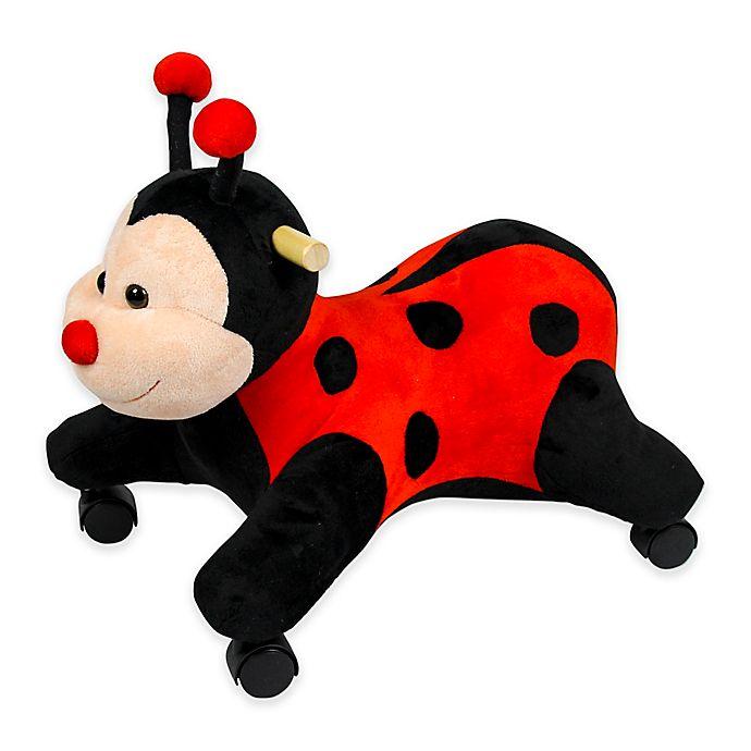 Alternate image 1 for PonyLand Plush Ladybug with Wheels Ride-On