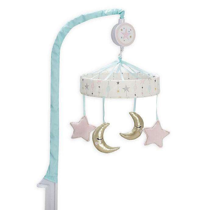 Alternate image 1 for Just Born® One World™ Love & Sugar Musical Mobile in White/Pink