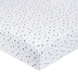 Just Born® One World™ Counting Sheep Fitted Crib Sheet in Grey
