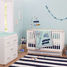 Just Born® One World™ Collection Dear World Crib Bedding Collection in Blue