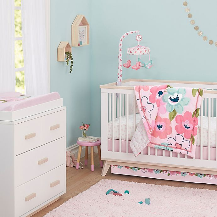 Alternate image 1 for Just Born® One World™ Collection Blossom Crib Bedding Collection