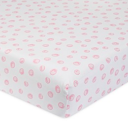 Just Born® One World™ Collection Blossom Polka Dot Fitted Sheet in Pink/White
