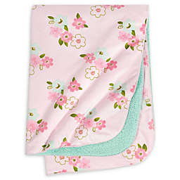 Just Born® One World™ Collection Blossom Plush Blanket in Pink