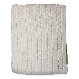 Nipperland® Boutique Cable Knit Throw Blanket