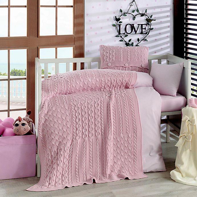 Alternate image 1 for Nipperland® Patchwork Natural 6-Piece Crib Bedding Set