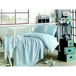 Nipperland® Venice Natural 6-Piece Crib Bedding Set in Blue