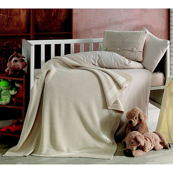 Alternate image 1 for Nipperland® Venice Natural 6-Piece Crib Bedding Set in Beige