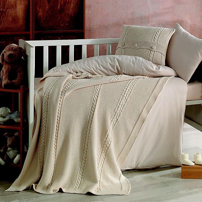 Alternate image 1 for Nipperland® Heritage Natural 6-Piece Crib Bedding Set in Beige