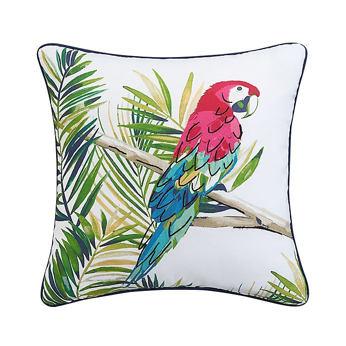 Alternate image 1 for Coastal Life Luxe Freemont Parrot Square Throw Pillow