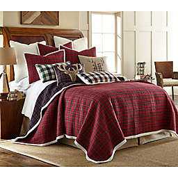 Levtex Home Plaid 2-Piece Reversible Twin Quilt Set in Red/Blue