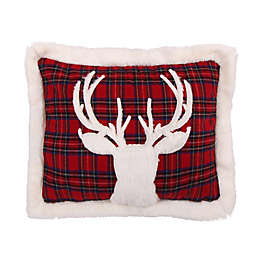 Levtex Home Plaid Deer Oblong Throw Pillow in Red