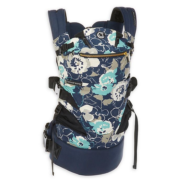 Alternate image 1 for Contours® Journey 5-in-1 Baby Carrier in Blue/Grey