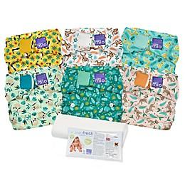 Bambino Mio® Miosolo 6-Piece Rainforest All-In-One Reusable Diaper Set