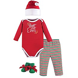 Hudson Baby® Size 0-6M 4-Piece Best Gift Ever Bodysuit, Pant, Hat, and Bootie Set
