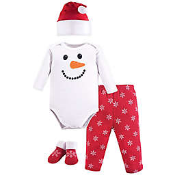 Hudson Baby® 4-Piece Snowman Holiday Gift Set in Red