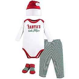 Little Treasures 4-Piece Santa's Helper Holiday Gift Set in Red