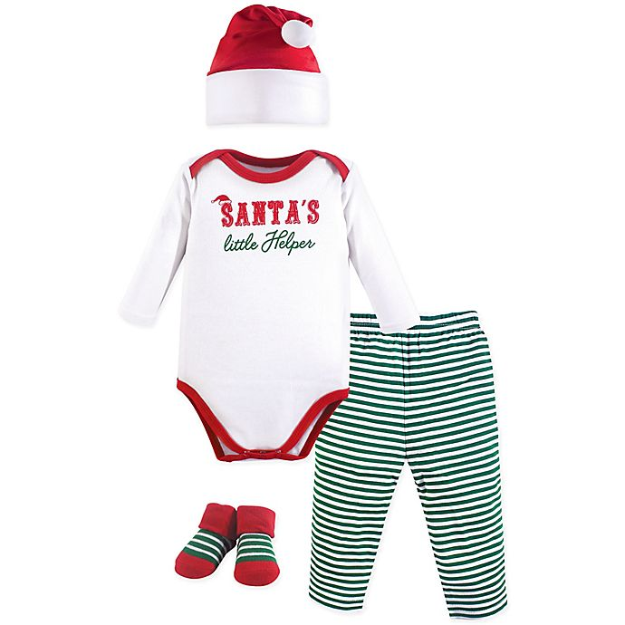 Alternate image 1 for Little Treasures 4-Piece Santa's Helper Holiday Gift Set in Red