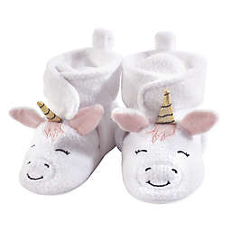 Hudson Baby® Size 12-18M Unicorn Fleece-Lined Scooties in White