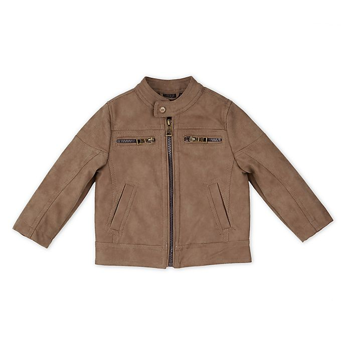 Alternate image 1 for Urban Republic Faux Leather Suede Jacket in Tan
