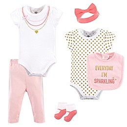 Little Treasures 6-Piece Sparkling Layette Set